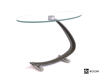 The unique shape glass coffee table