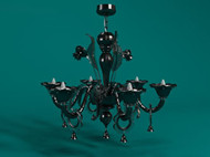 Retro bell pendants dark chandelier