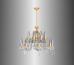 Gold and silver crystal texture chandelier