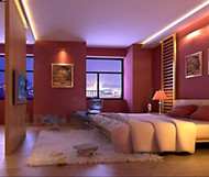 Romantic warm and pink bedroom