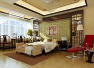 Chinese style charm warm bedroom