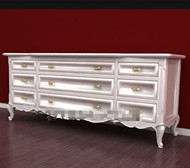 Elongated shaped white exquisite cabinet