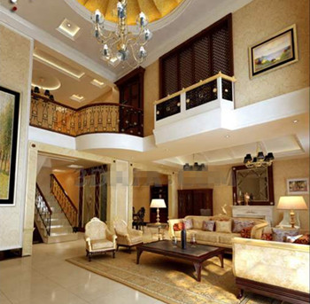 Gold luxury ceiling living room