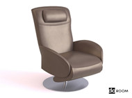 Brown casual comfortable chair