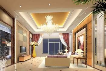 Zengin, zarif ve parlak bir oturma odası