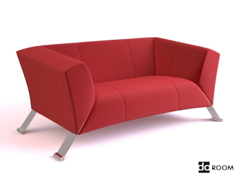 Red comfortable single sofa