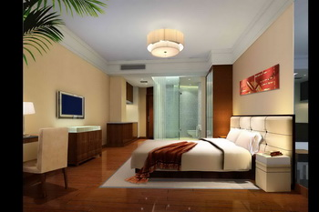 Modern Hotel Style Comfortable Bedroom 3d Model Download