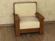 Light brown comfortable single sofa