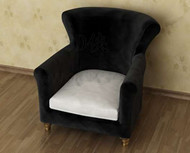 Black and casual sofa armchair