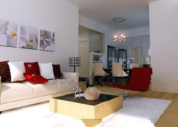 Modern simple and nice living room