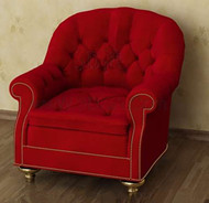 Red soft and comfortable single sofa