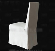 White fabric back-rest chair