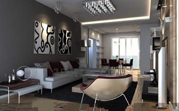 Modern distinctive colors living room 3d model download - Les couleurs du salon ...