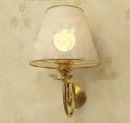 Light yellow lamp shade wall lamp