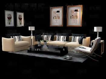 Modern and comfortable fabric sofa combination