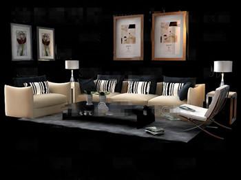 Modern and comfortable fabric sofa combination
