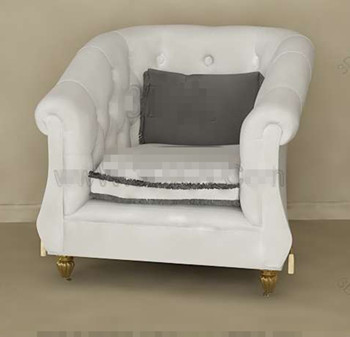 White European style single sofa