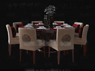 Chinese style wooden round dining table