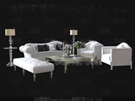 Modern cortical white sofa combination