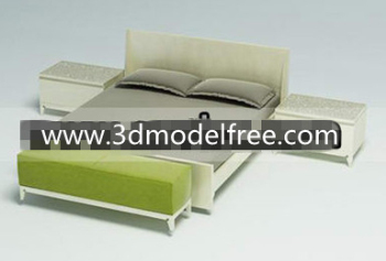 Wooden simple bed combination