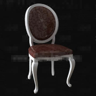 Retro brown wooden chair