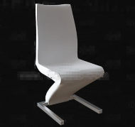 White personality bent chair