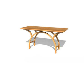 Simple individual wooden tables