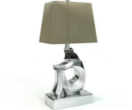 Figure shape metal table lamp