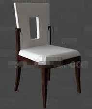 White openwork back chair