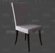 Simple white wooden chair