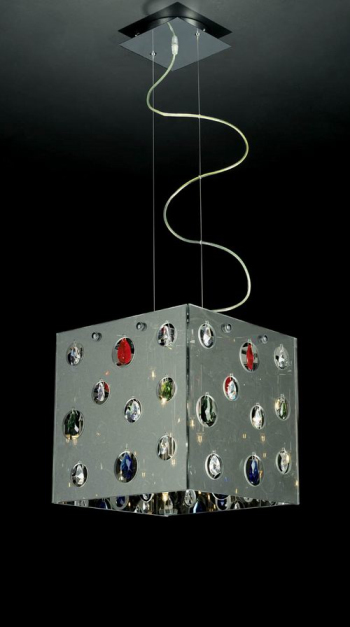Embedded square lampshade chandelier