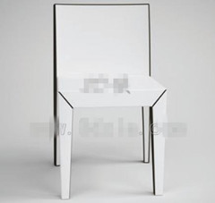 Modern pure white backed chair