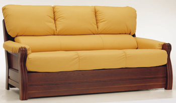European-style three seats leather sofa