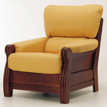 European-style single yellow sofa