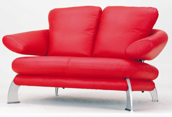 European-style modern red double seats sofa