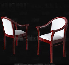 White red wooden chairs