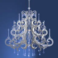 Modern European crystal relief chandeliers