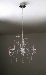 European simple iron crystal Chandelier