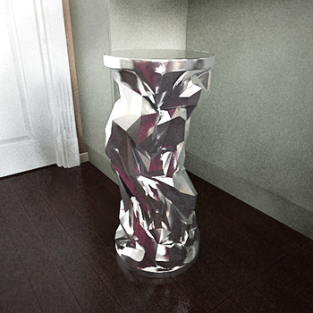 Silver abstract display 3D models