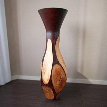 Interior decoration wooden vase