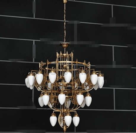 Exquisite gold metal frame Chandelier