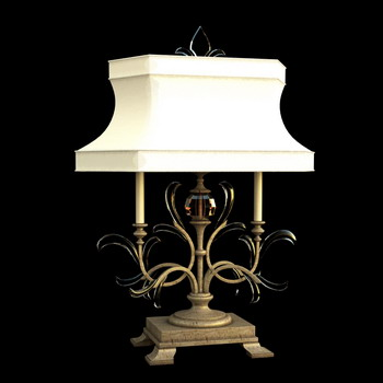 European style classic white shade lamp