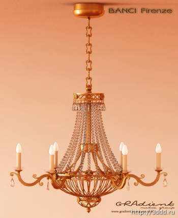 Metal chain European-style chandeliers