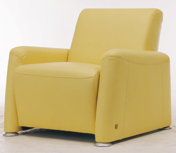 European-style single leather sofa