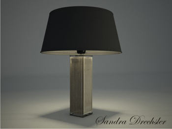Table lamp 3D models of dark metal texture