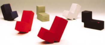 L-shaped chair of the Creative Arts