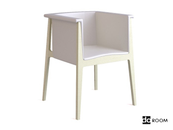 The white simplicity armchair 3D model