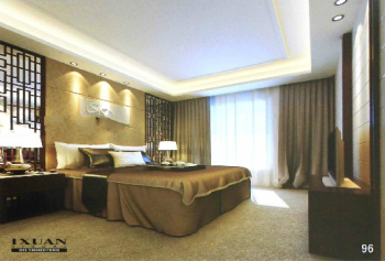 Modern Chinese style warm bedroom