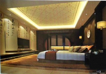 Chinese traditional dull bedroom model