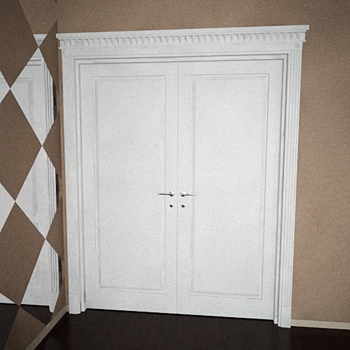 Modern double-door 3D models